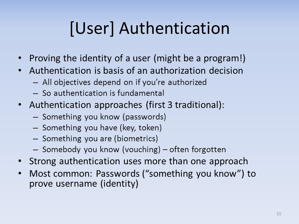 [User] Authentication